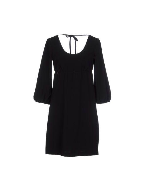 Manila Grace Denim | Женское Чёрное Короткое Платье