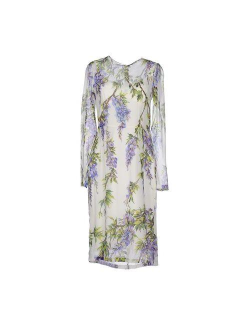 Dolce & Gabbana | Женское Белое Платье До Колена