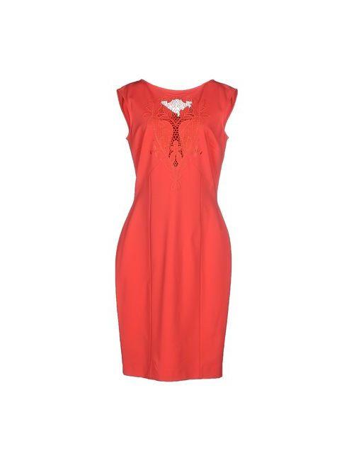 Blumarine | Женское Розовое Платье До Колена