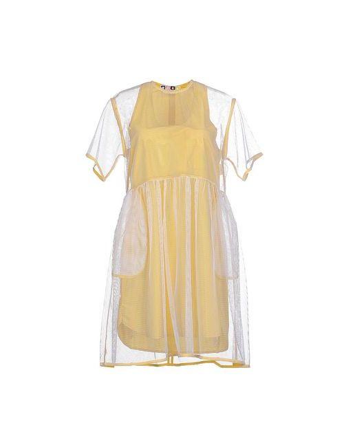 MSGM | Женское Жёлтое Короткое Платье
