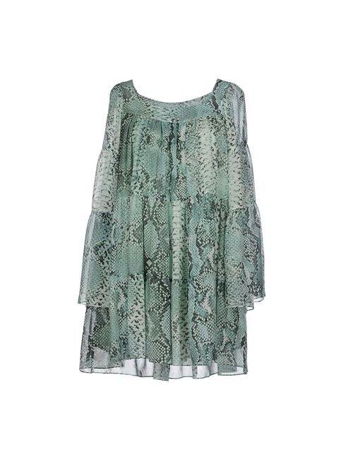 Pierre Balmain | Женское Зелёное Короткое Платье