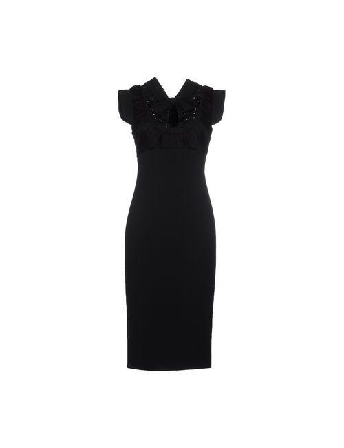Dsquared2 | Женское Чёрное Платье До Колена