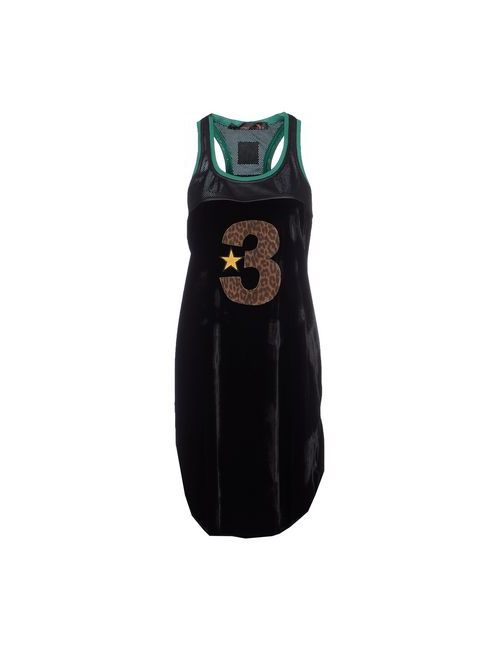 TRE CINQUE SETTE | Женское Чёрное Платье До Колена