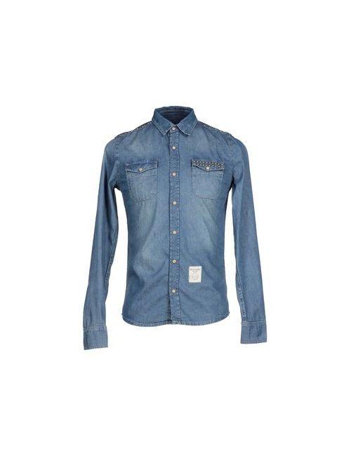 Fred Mello   Мужская Синяя Джинсовая Рубашка