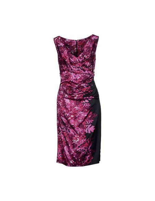 Talbot Runhof | Женское Фиолетовое Платье До Колена