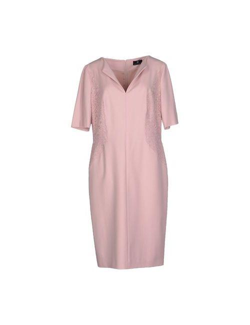 Rena Lange | Женское Розовое Платье До Колена
