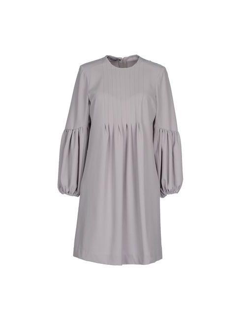 La Camicia Bianca   Женское Серое Короткое Платье
