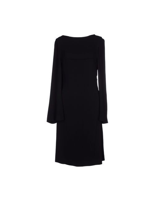 Ann Demeulemeester | Женское Чёрное Платье До Колена