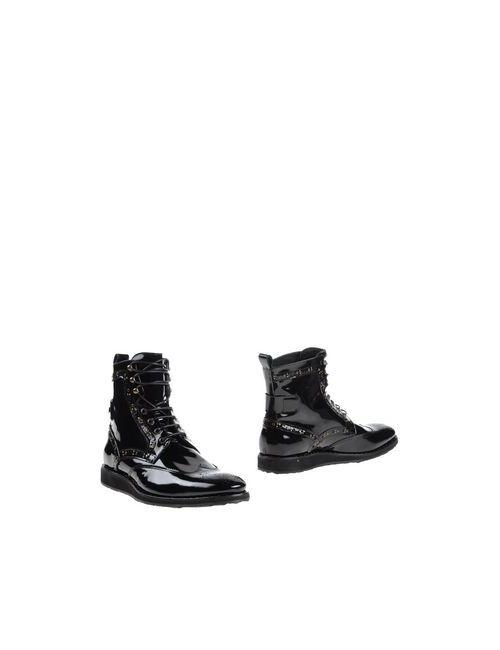 Roberto Cavalli   Мужские Чёрные Полусапоги И Высокие Ботинки