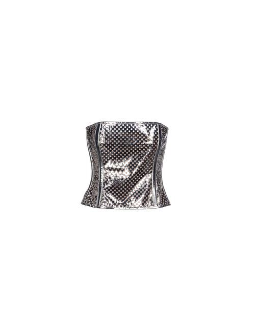 Jean Paul Gaultier | Женский Серебристый Топ Без Рукавов