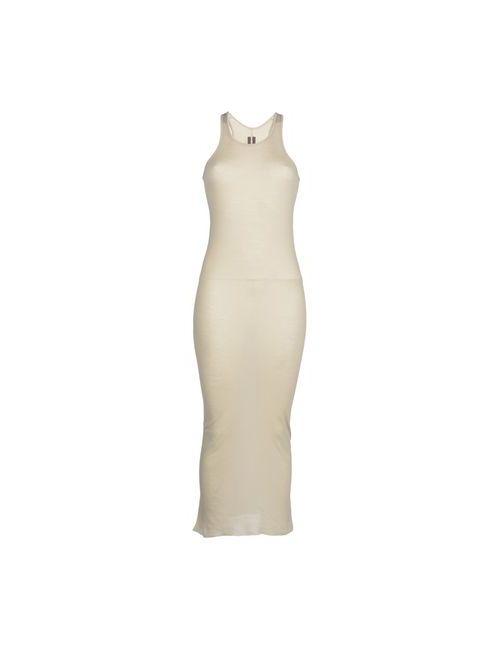 Rick Owens | Женское Бежевое Длинное Платье