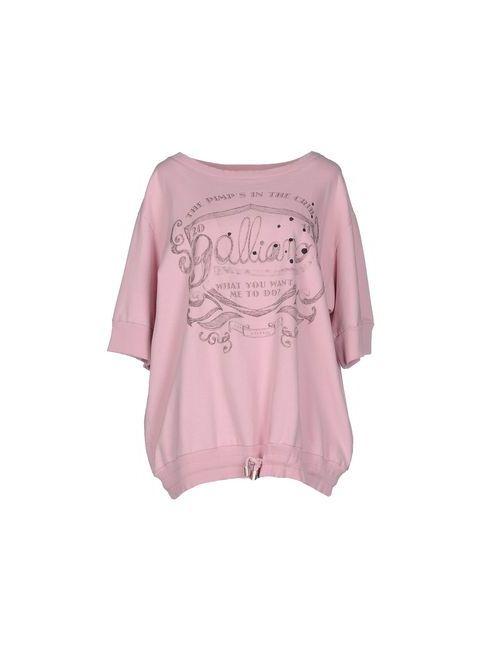 Galliano | Женская Розовая Толстовка