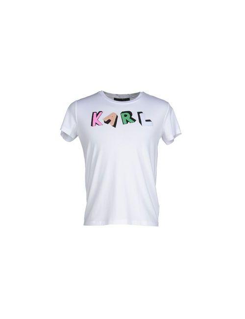 Karl Lagerfeld | Мужская Белая Футболка