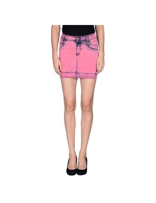 Just Cavalli | Женская Розовая Джинсовая Юбка