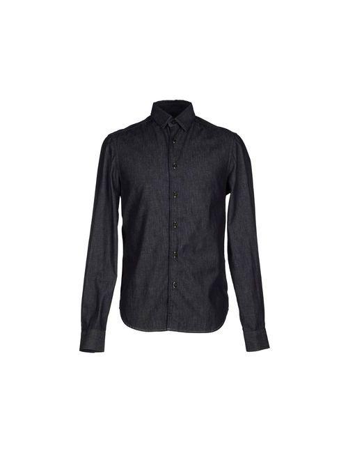 Trussardi | Мужская Синяя Джинсовая Рубашка