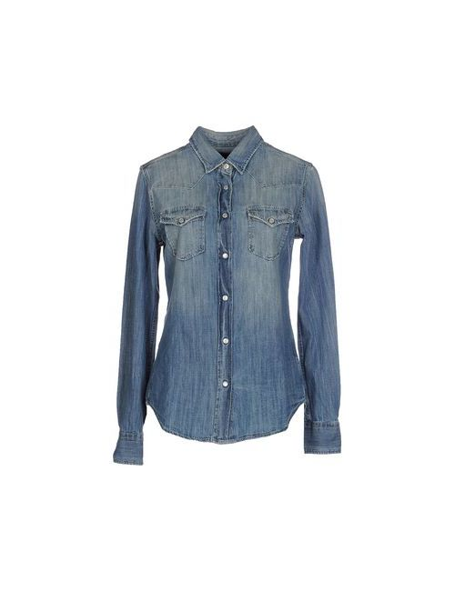 Truenyc. | Женская Синяя Джинсовая Рубашка