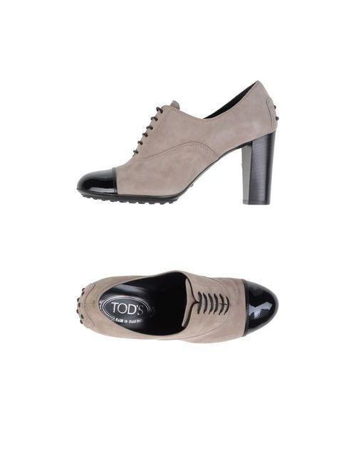Tod'S | Женская Серая Обувь На Шнурках