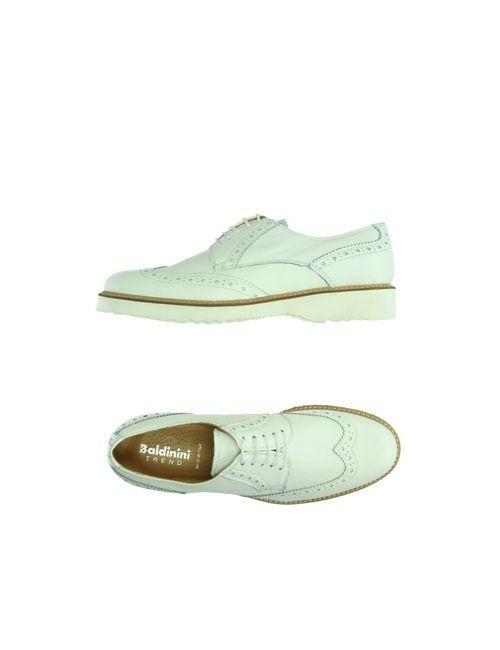 Baldinini Trend   Женская Белая Обувь На Шнурках
