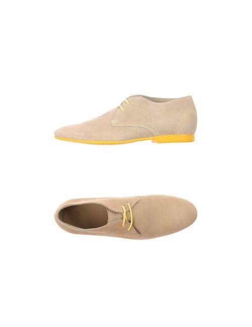 BOSS | Мужская Бежевая Обувь На Шнурках