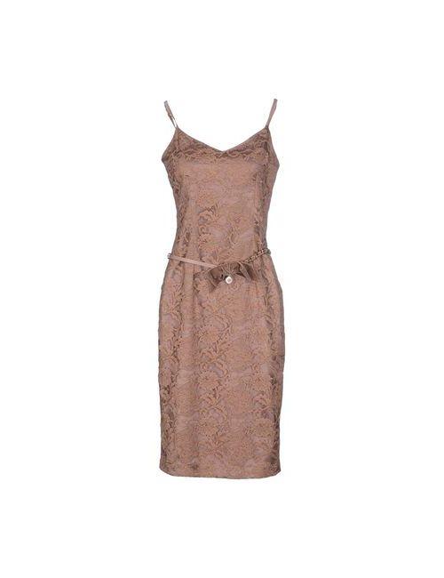 ELISABETTA FRANCHI | Женское Телесное Платье До Колена