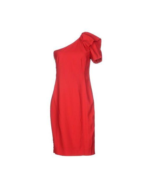 Normaluisa | Женское Красное Платье До Колена