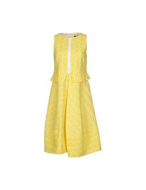 Jil Sander Navy | Женское Жёлтое Платье До Колена