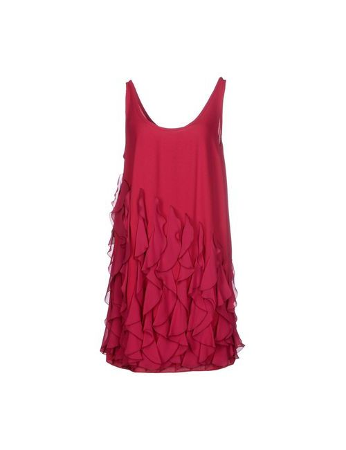 John Galliano | Женское Фуксия Короткое Платье