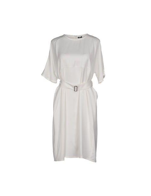 Jil Sander Navy | Женское Белое Платье До Колена