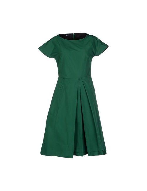 Jil Sander Navy | Женское Зелёное Платье До Колена