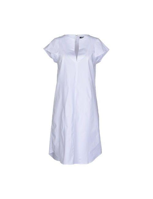 Jil Sander Navy | Женское Белое Короткое Платье