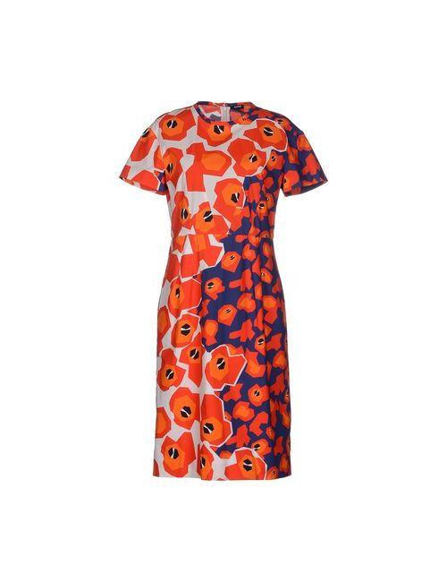 Jil Sander Navy | Женское Оранжевое Платье До Колена