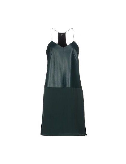 Tibi   Женское Зелёное Короткое Платье