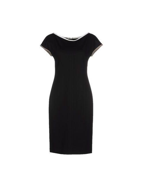 Gio' Guerreri | Женское Чёрное Платье До Колена