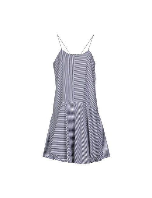Tibi | Женское Синее Платье До Колена