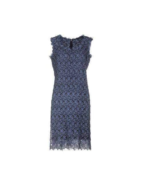 Ermanno Scervino | Женское Синее Платье До Колена