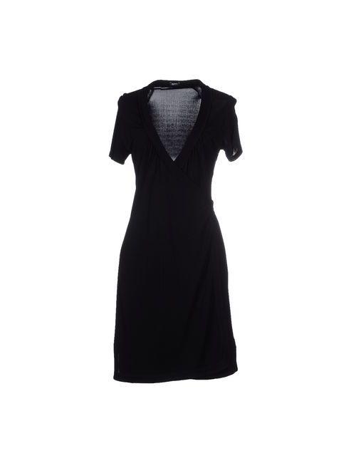 Jil Sander Navy | Женское Чёрное Платье До Колена