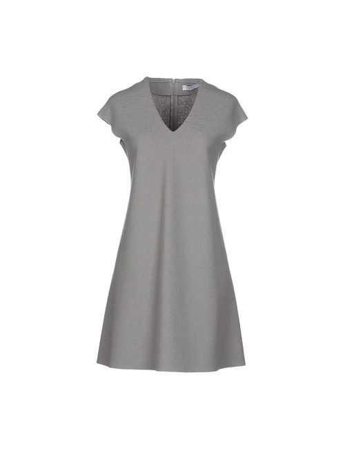 Harris Wharf London | Женское Серое Короткое Платье