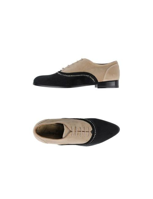 Lanvin | Женская Бежевая Обувь На Шнурках