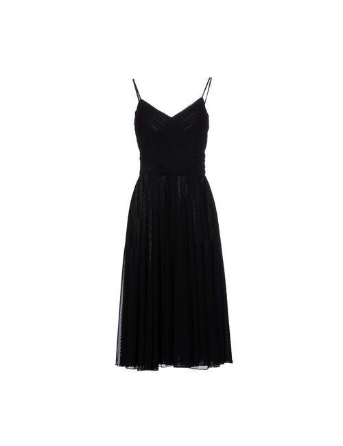 Class Roberto Cavalli | Женское Чёрное Платье Длиной 3/4