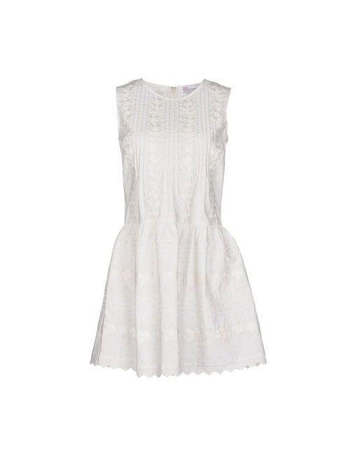 Red Valentino   Женское Белое Короткое Платье