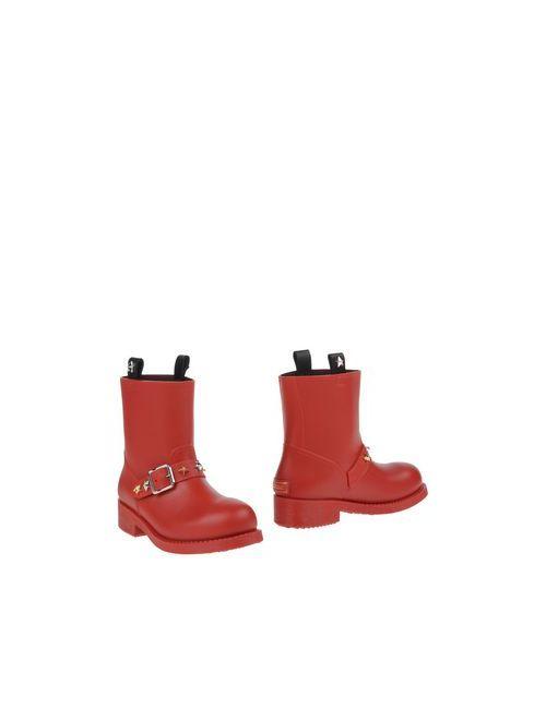 Just Cavalli | Женские Красные Полусапоги И Высокие Ботинки