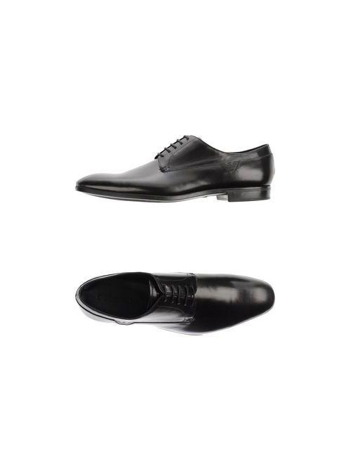 Emporio Armani | Мужская Чёрная Обувь На Шнурках