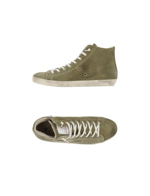 Leather Crown | Женские Зелёные Высокие Кеды И Кроссовки