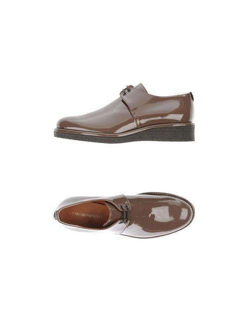 Emporio Armani | Женская Какао Обувь На Шнурках
