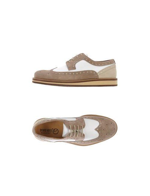 Bruno Verri | Мужская Серая Обувь На Шнурках