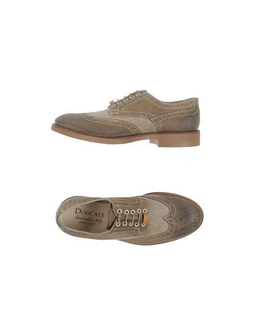 Doucal's | Мужская Серая Обувь На Шнурках