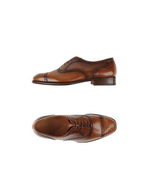 Stefano Bi | Мужская Коричневая Обувь На Шнурках
