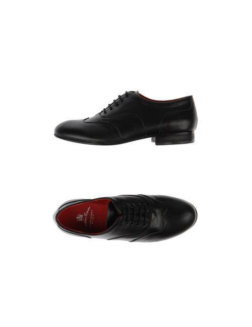 Leather Crown | Женская Черный Обувь На Шнурках