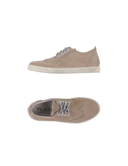 Ylati | Мужская Бежевая Обувь На Шнурках