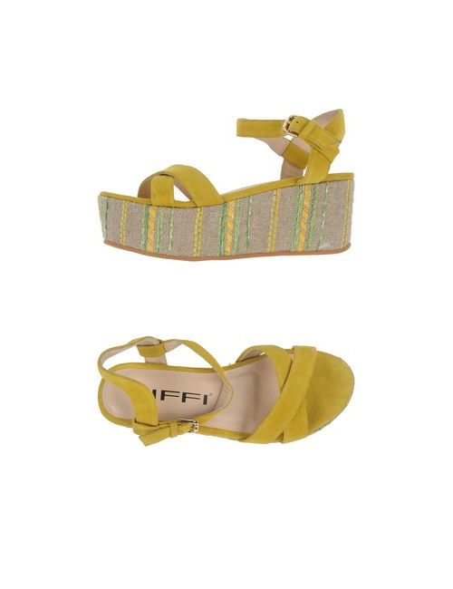 Tiffi | Женские Жёлтые Сандалии